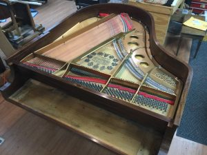 Steinway Model O with new sounding board, finish, and strings installed