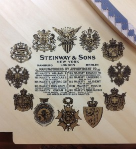 Steinway Decal